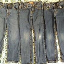 Jeans Lot of 3 Boys Size 7 Regular Denim Old Navy b'gosh Faded Glory Adjustable Photo