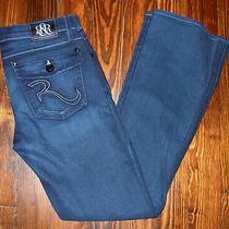 Jeans Rock & Republic Kurt Blue Denim Casual Button Back Pockets Womens Size 28  Photo