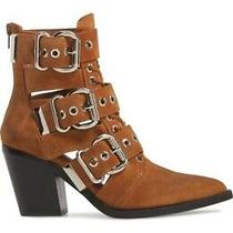 Jeffery Campbell 8 Caceres Boots Tan Suede 8 Used Booties  Photo