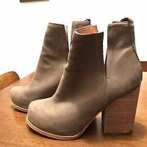 Jeffery Campbell Gray Chunky Heel Booties Photo