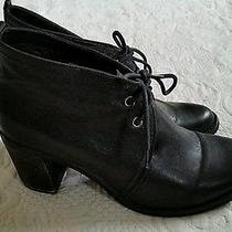 Jeffery Campbell Ibiza Boxxy Women's Black Leather Ankle Boots Booties Sz 12  Photo