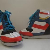 Jeffery Campbell Ibiza Last Leather Sneaker Patent Napoles Wedge Size 7.5 Photo