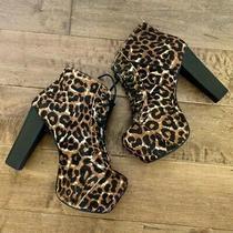 Jeffery Campbell Lita Fur Leopard Boots Photo