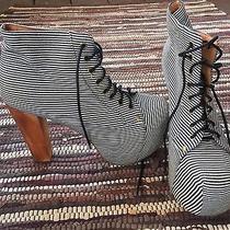 Jeffery Campbell Lita Striped Boot Size 8.5 Photo