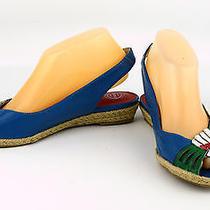 Jeffery Campbell Multi-Color Leather Peep Toe Hold-on Art Slingbacks Shoes Sz 8m Photo