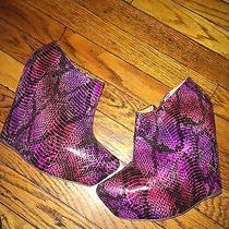 Jeffery Campbell Purple Python Wedges Photo