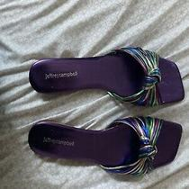 Jeffery Campbell Rainbow Slippers Photo