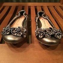 Jeffery Campbell Ruffle Ballet Flats 8.5 Jewel 2 Metallic Shoes Womens Photo