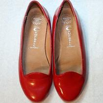 Jeffery Campbell Shoes Mention Red Flats Patent Leather Handmade Havana Last 5.5 Photo
