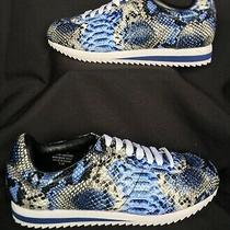 Jeffery Campbell Sneakers Blue Python Leather Sprinter Laces 1.5