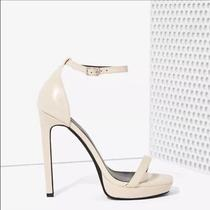 Jeffery Campbell Strides Leather Heels Nude Photo