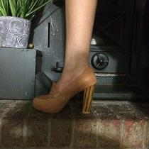 Jeffery Campbell Tan Stacked Heels Size 8 Photo