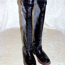 Jeffery Campbell Wishlist Black Leather Otk Engineer/riding Knee High Boots Sz 7 Photo