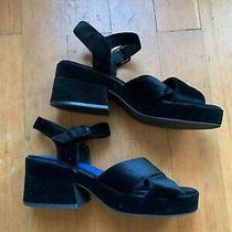 Jeffrey Campbell 10 Velvet Sandals Photo