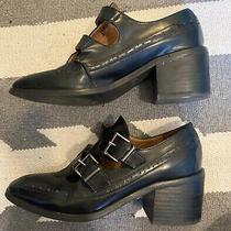 Jeffrey Campbell 6.5 Boot Black Heel Leather Us Photo