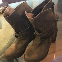 Jeffrey Campbell 7.5 Ibiza France Wrap Boots Brown Distressed Leather Strappy  Photo