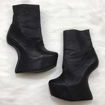 Jeffrey Campbell 8.5 Moonover Platform Ankle Booties Snake Embossed Leather Photo