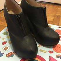 Jeffrey Campbell 99 Zip Black Wedge Booties Good Condition Photo