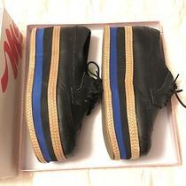 Jeffrey Campbell Ad-Man Black Blue Combo Platform Leather Shoes Size 11/44 Rare Photo