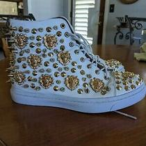 Jeffrey Campbell Adams Lion High Top Leather Sneakers    Sz 9    Photo
