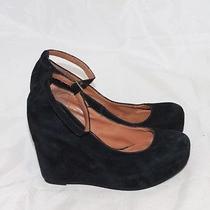 Jeffrey Campbell Adelaide Black Wedge Mary Jane Heels Women's Size 7.5 M Photo
