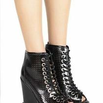 Jeffrey Campbell Adelicia Black Box Punched Booties Size 7 Photo
