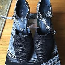 Jeffrey Campbell Adrina Black Diamond Cut Grey Black Snake Green Leather 7.5  Photo