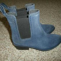 Jeffrey Campbell Ankle Boots Leather Suede Women Heels Distressed Blue Size Us 8 Photo