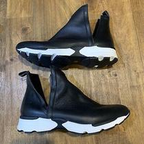 Jeffrey Campbell Ankle Cut Out Black & White Bootie High Top Sneakers Size 7.5 Photo