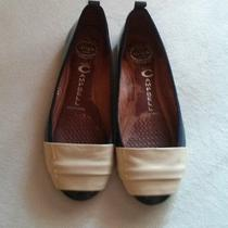 Jeffrey Campbell Anthropologie Ballet Flats Patent Leather Navy/ivory Us Women 7 Photo