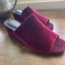 Jeffrey Campbell Anthropologie Velvet Wedges 8.5 Photo