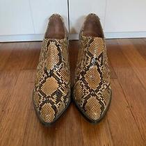 Jeffrey Campbell Aston Snakeskin Booties - 7.5 Photo