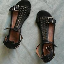 Jeffrey Campbell Barbary Spike Black Sandals Sz 6 Wedge  Photo