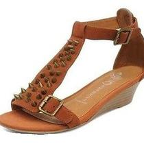 Jeffrey Campbell Barbary Spike Tan Sandals Sz 7 Wedge New  Photo