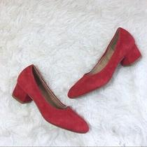 Jeffrey Campbell Bitsie Heels Red Suede Size 8 Photo
