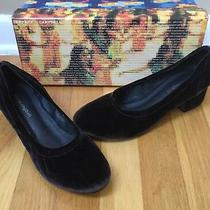 Jeffrey Campbell Bitsie Womens Brown Velvet Block Heel Pump - Size 7.5m Photo