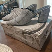 Jeffrey Campbell Black and White Tweed Mules  Size 9 Photo