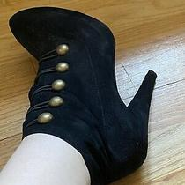 Jeffrey Campbell Black Booties Size 9 Photo