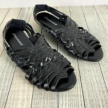 Jeffrey Campbell Black Celano Hurache Weave Wedge Slingback Sandals Size Us 7 Photo