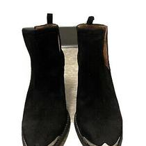 Jeffrey Campbell Black Cromwell Womens Western Ankle Boots Suede Size 8 1/2 Photo