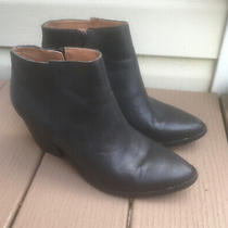Jeffrey Campbell Black Leather Ankle Boots Booties 9.5 Sb3 Photo