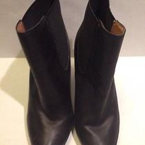 Jeffrey Campbell Black Leather Ankle Boots Size 7.5m Very Cute Photo