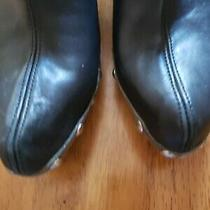 Jeffrey Campbell Black Leather Clog -Size 8 Photo