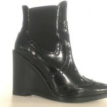 Jeffrey Campbell Black Leather Wingtip Style Ankle Bootie - 10 Worn Only Twice Photo