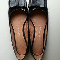 Jeffrey Campbell Black Patent Leather Shiny Bow Flats Round Toe Cute 7 Photo