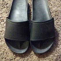 Jeffrey Campbell Black Pool Slides Size 7 Sandals Slip on Play Photo