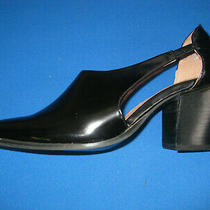 Jeffrey Campbell Black Renise Pointed Toe Leather Bootie Flat Chunky Heel Size 8 Photo