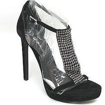 Jeffrey Campbell Black Revue Platform Evening Sandals Size 10 Photo