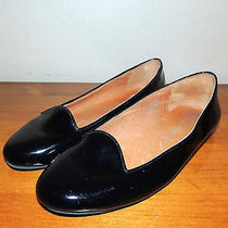 Jeffrey Campbell Black Shiny Patent Leather Mention Ballet Flats Size 8.5 Photo