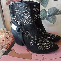 Jeffrey Campbell Black Studded Boots Booties Size 10 So Awesome Photo